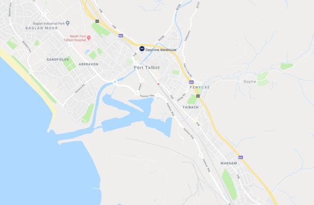 Map of Port Talbot