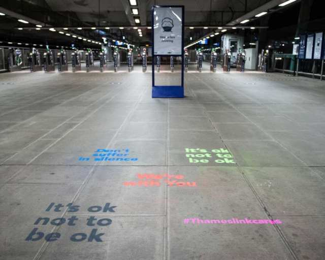 World Suicide Prevention Day art at railway station