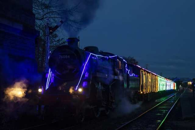 North Norfolk Railway Christmas lights