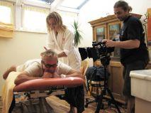 Schukoff getting massage by international model Ana Colja