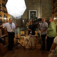 Shooting in the wine cellar of palais Coburg