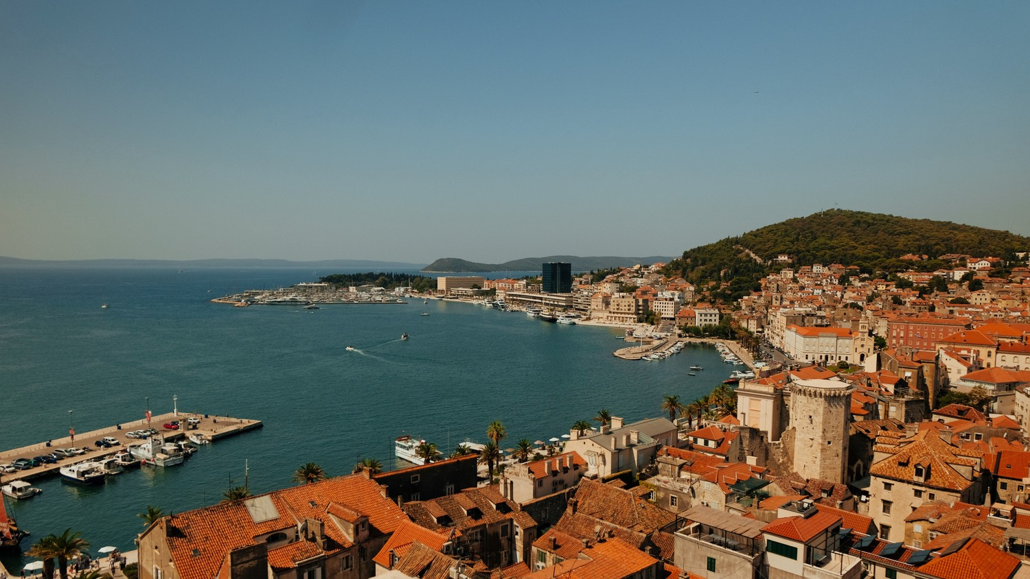 view of Split from the cathedral bell tower