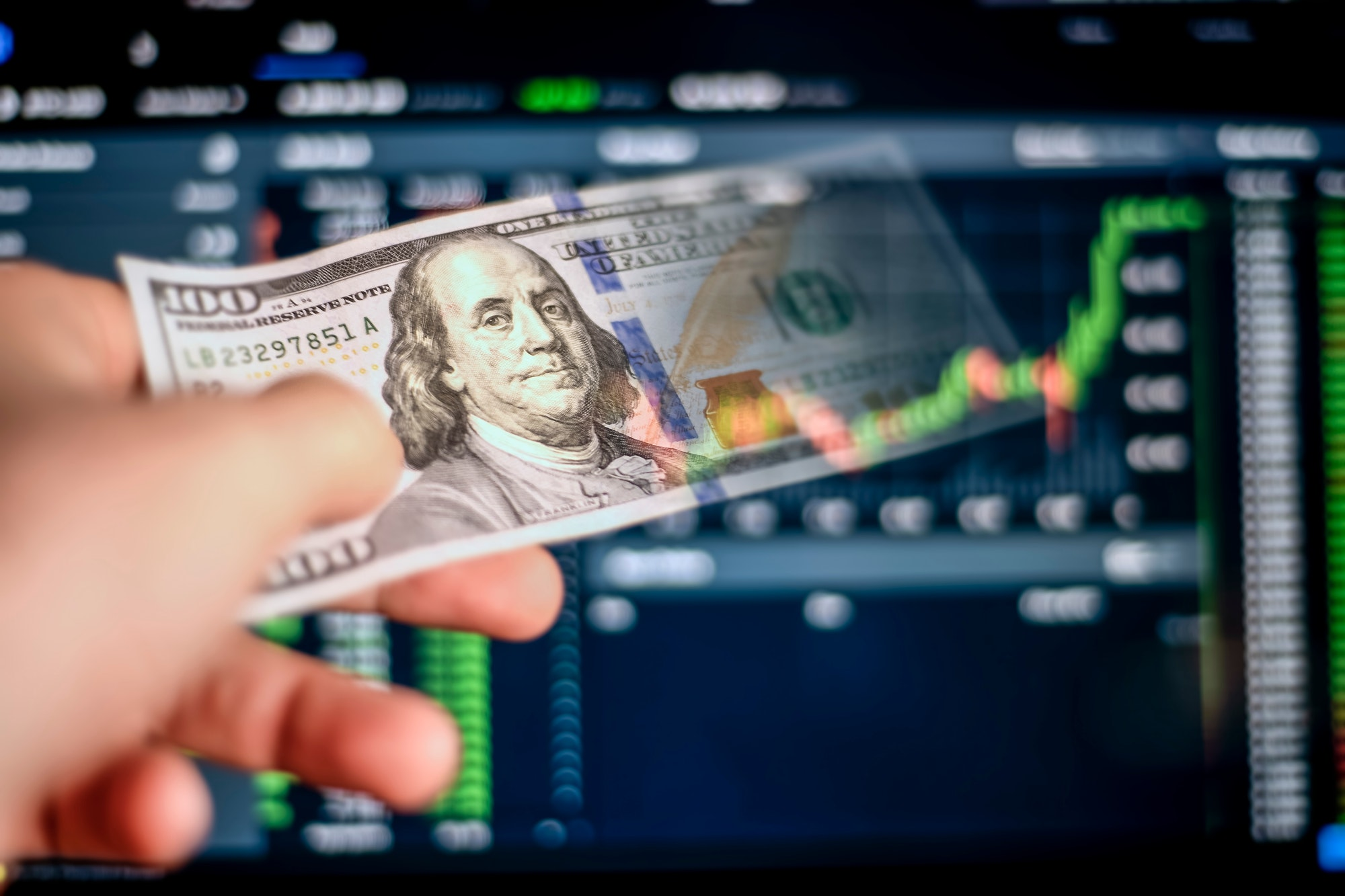Taking profits from investing
