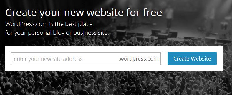 Create a Blog or Website — Support — WordPress.com