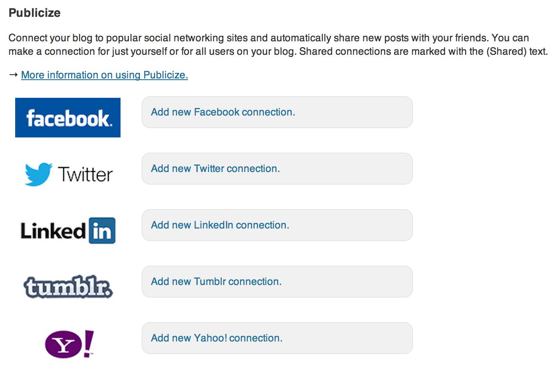 Publicize Services