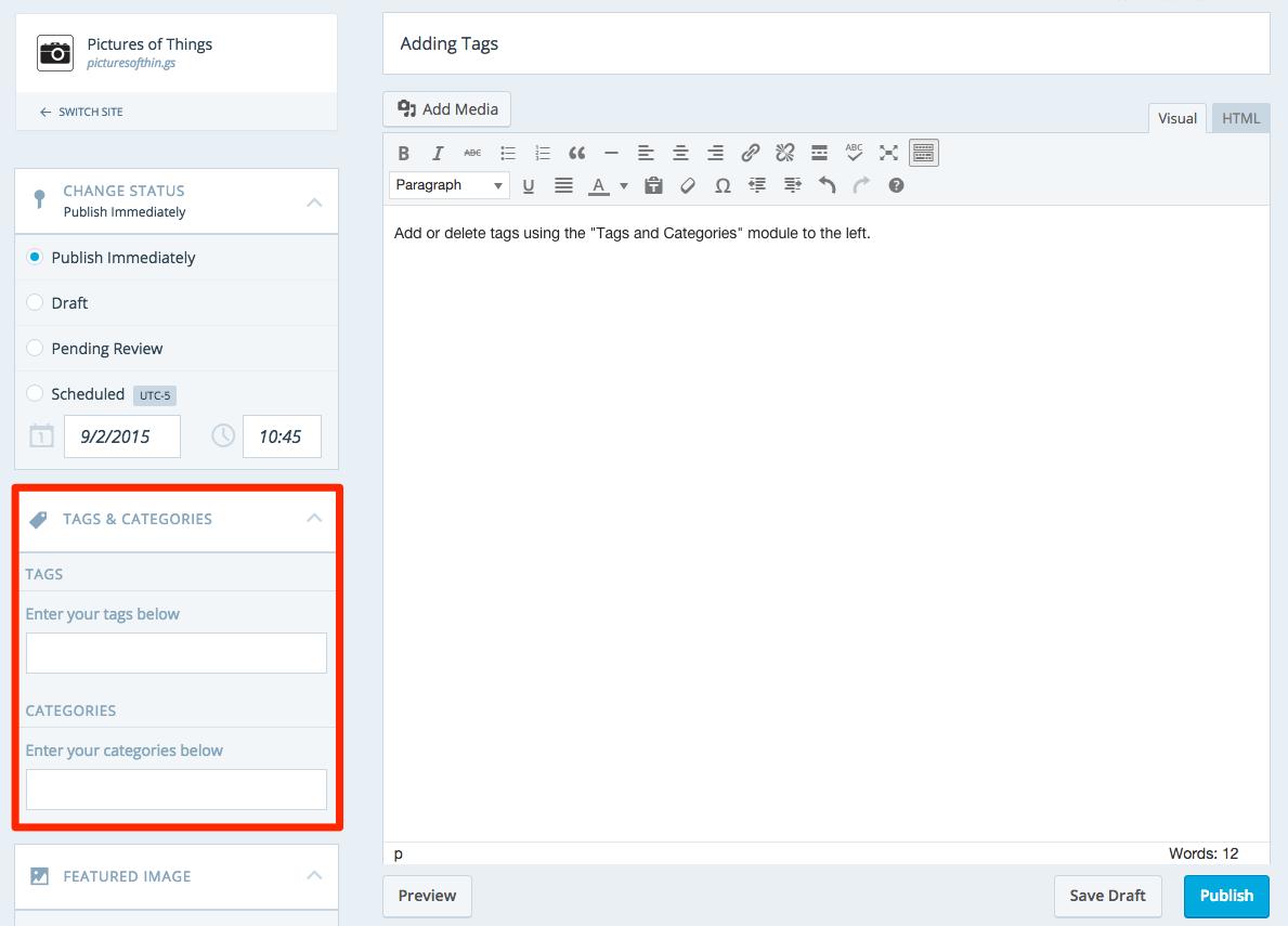 tags module
