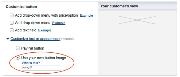 Optional: Use your own button image
