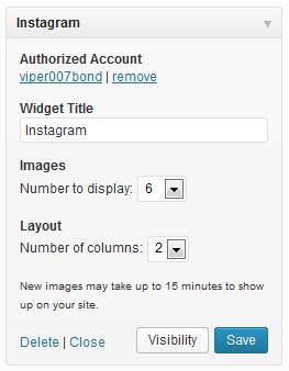 Instagram Widget Configuration