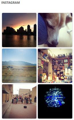 Instagram Widget Example