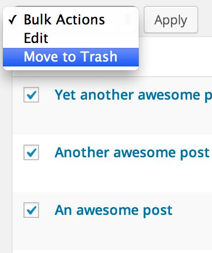 Bulk Delete Posts