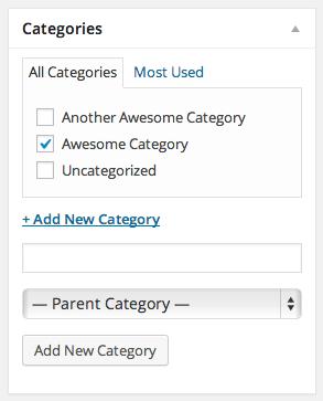 Categories Module