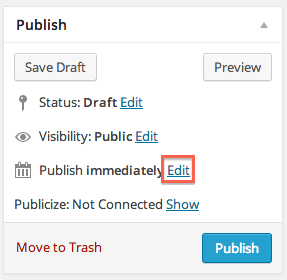 Publish Immediately - Edit