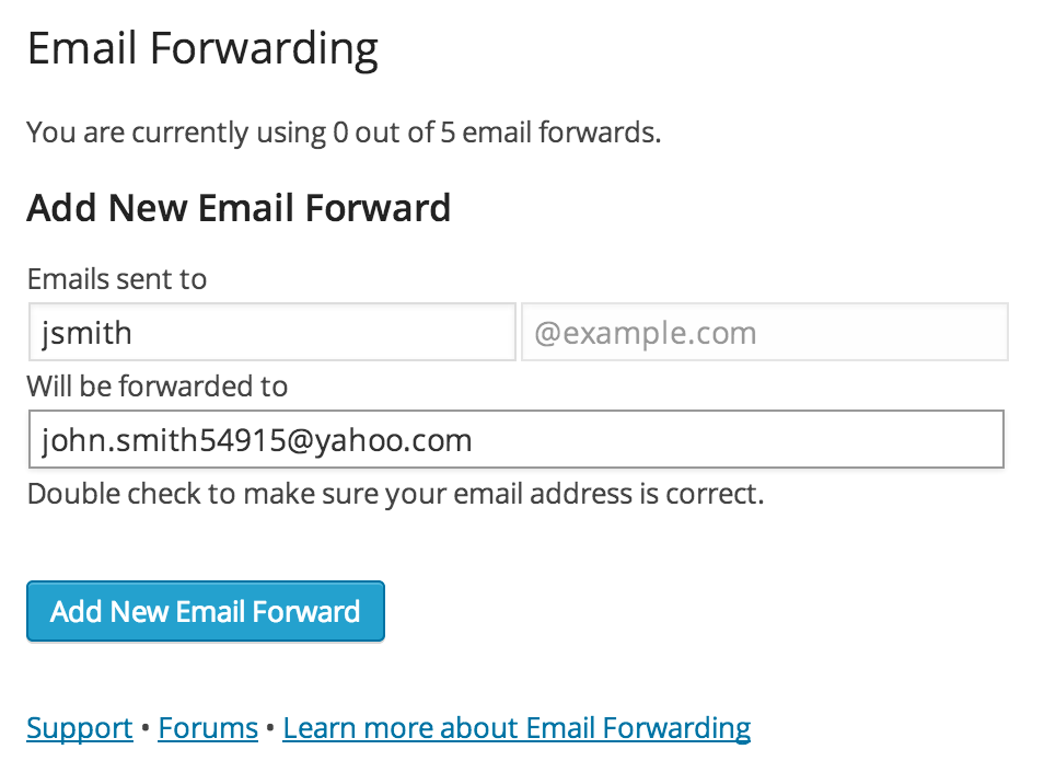 how to create domain related email address