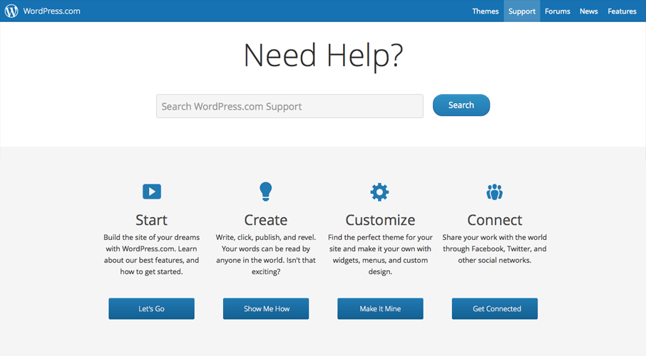 Sitio de ayuda