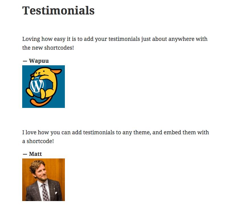 testimonials-shortcode