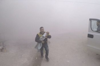 SCD Rescue Worker Ends Up Saving His Own Son in Eastern Ghouta