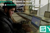 Engineering student in Idlib builds a mobile remote controlled car
