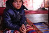 Syrian IDP girl injured by an unexploded landmine
