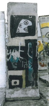"""<h5>Thanks Sabine Kurz</h5><p>The photo was taken in Berlin shortly after the Berlin Wall was dismantled. Currently this segment is stored. © <a href=""""http://probst-bautraeger.de/"""" target=""""_blank"""">Kurz</a></p>"""