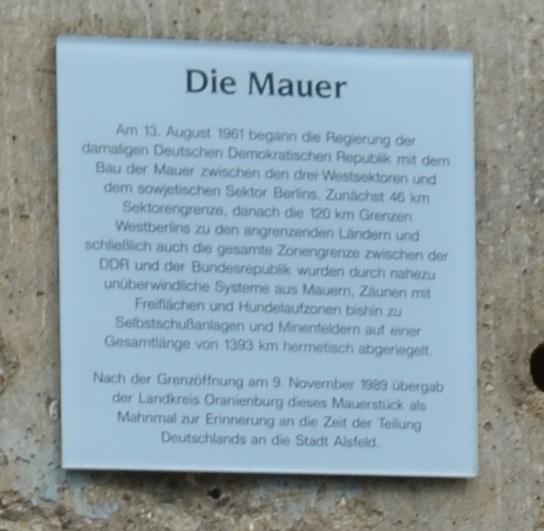 Berlin Wall in Alsfeld