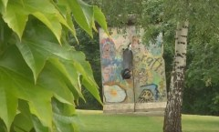 Berlin Wall in Gniezno, Poland