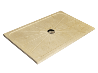 Marfil Cream marble shower tray model Mercury