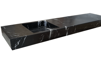 Black Marquina marble washbasin model AM130