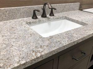 Gray granite countertop for bathroom