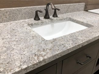 Gray granite countertop for bathroom
