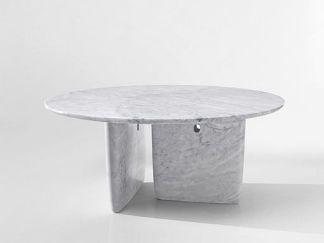 carrara white marble table Bangkok model