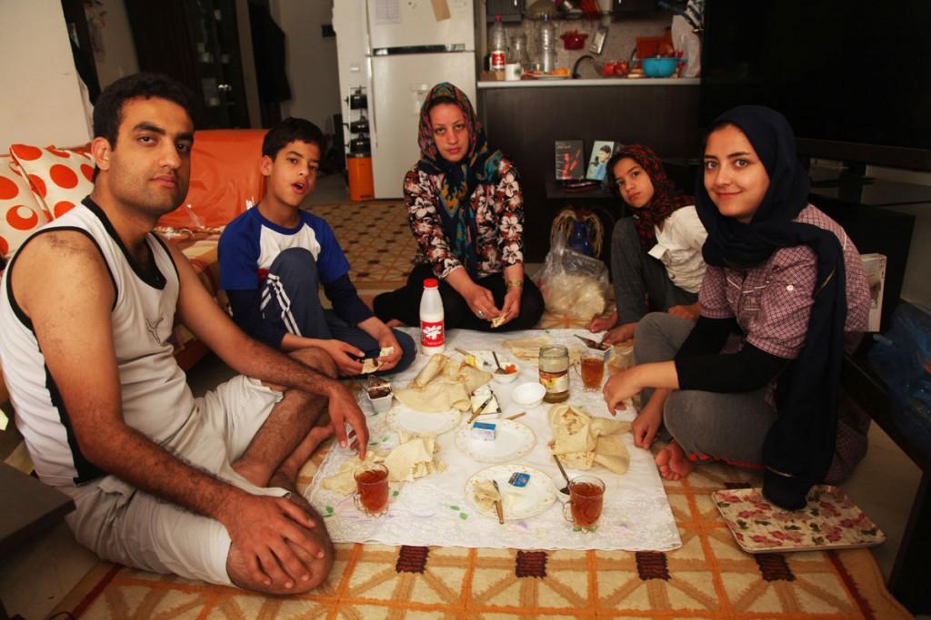 Family Eating Dinner Dining Table