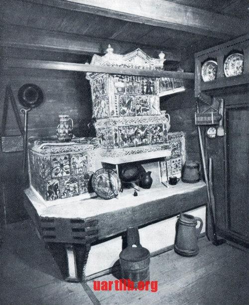 Tile stove, 1875.