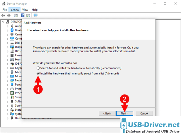 Download Pixus Play five 10.1 USB Driver - add hardware manual next 1