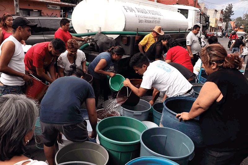 problema del agua en CDMX