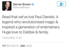 Derren Brown tweet