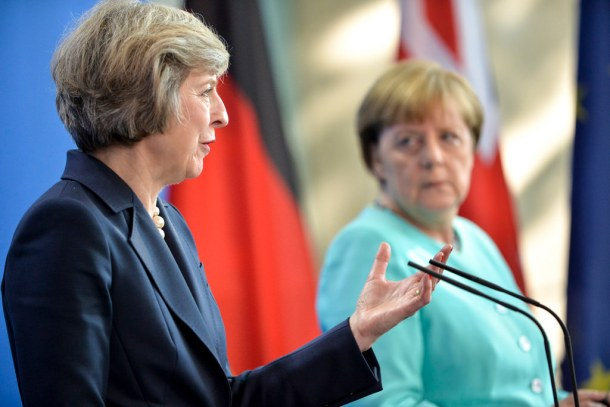 Theresa May's visit to Germany in July 2016.