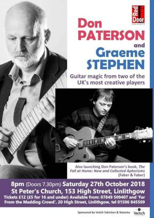 Concert on Saturday Oct 27th. Credit to Stewart Veitch
