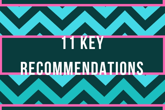 11 key recommendations