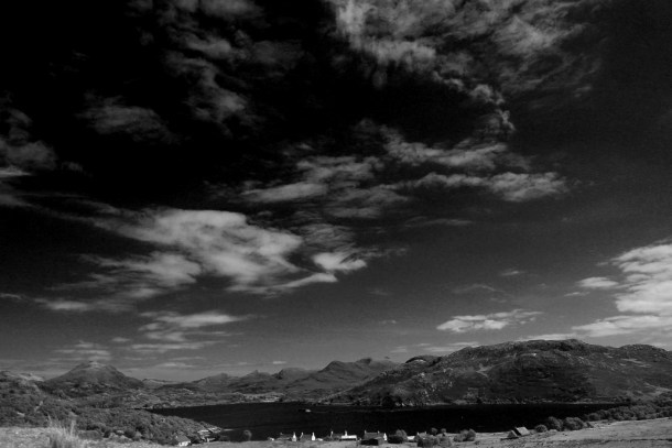 B&W Night Time Loch