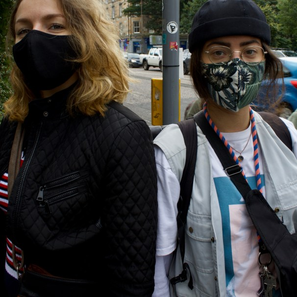 Adrianna Czachorowska (right) Roxi Hoffman (Left): 'I don't really care that much, I'm just like oh there is my mask I have to put it on quickly.'
