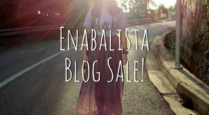 Enabalista's 1st Fashion & Beauty Blog Sale!
