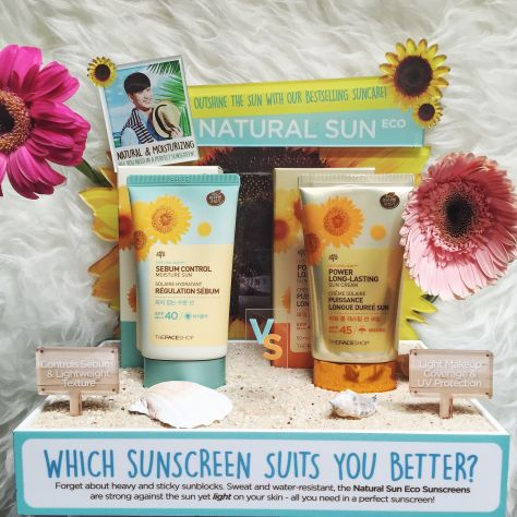 The Face Shop Sebum Control and Power Long Lasting Sunscreen Blogger Review