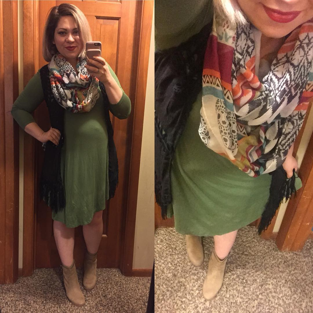 Preggo fall OOTD from Wednesday
