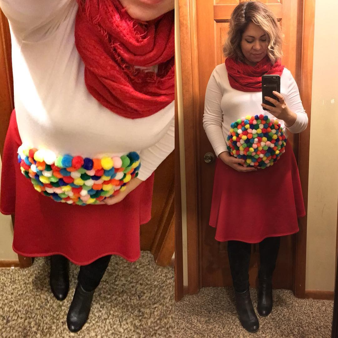 Pinspiration baby bump gumball machine Halloween costume! Just realized this is my first (and last) Halloween to have a visible bump