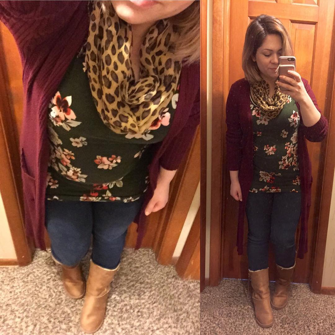 OOTD with winter florals! So thankful the temps weren't super low today. Looking forward to spring already