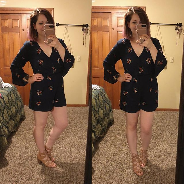 How cute is this romper?! Now if I can just get my husband to agree and not think they are silly 😝 I tried this one on at home via Stitch Fix but decided to sell it — we'll see if I can change his mind with the romper I have coming on Saturday, lol!  Want to try Stitch Fix? Use my link to sign and get your $20 styling fee waived FOR FREE! Sign up now >> https://www.stitchfix.com/referral/6374036?som=c&sod=i