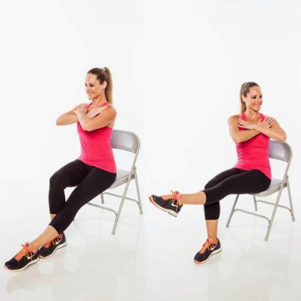 chair yoga leg lift and twist