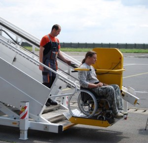 wheelchair lift into aircraft