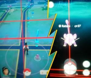 Pokemon Go In Game - Catching Rattata