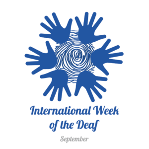 Logo of International Week of the Deaf